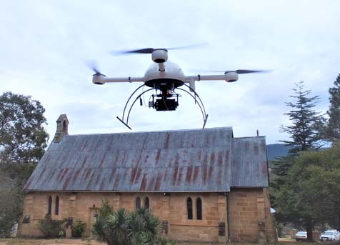 Risk engineering with drones enabled surveys